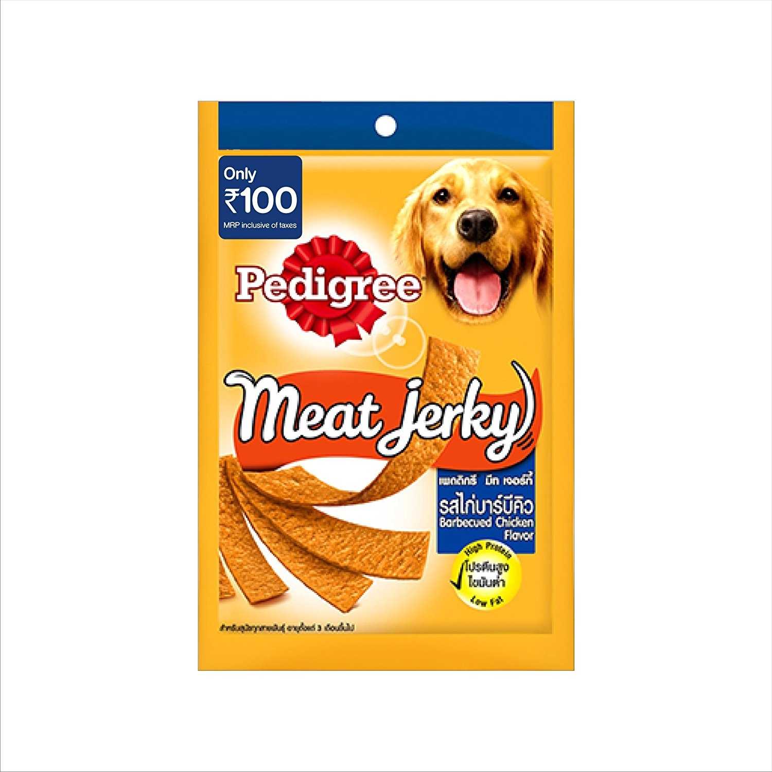 Pedigree Meat Jerky BBQ chicken Flavor - 80 gm