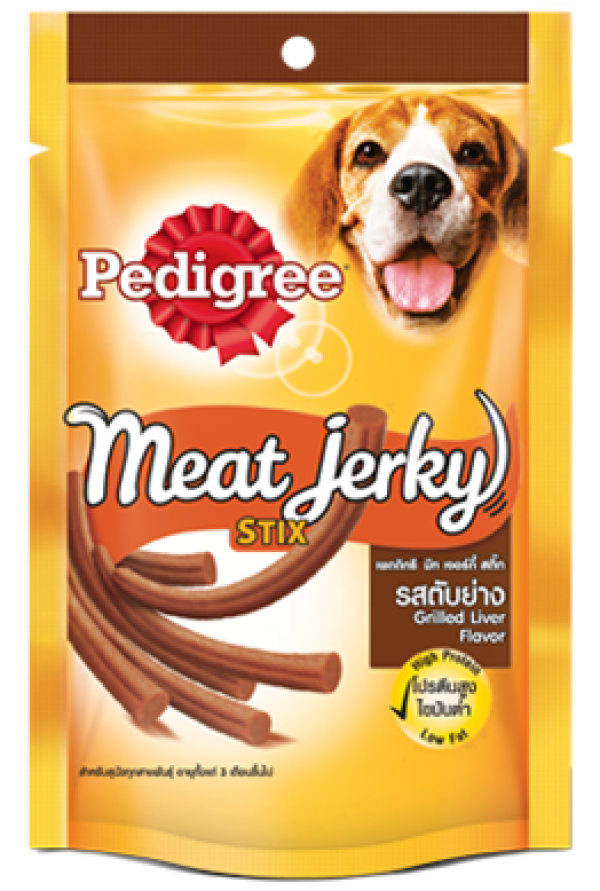 Pedigree Meat Jerky Stix Grilled liver Dog Treat 60 gm - (4 Pieces)