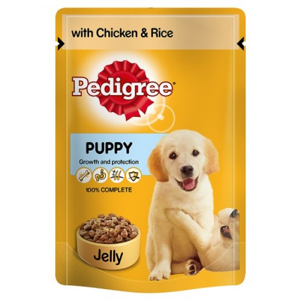 Pedigree Puppy Chicken & rice in Jelly - 100 gm pouch