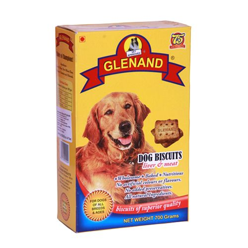 Glenand Dog Biscuits Liver & Meat - 700 gm