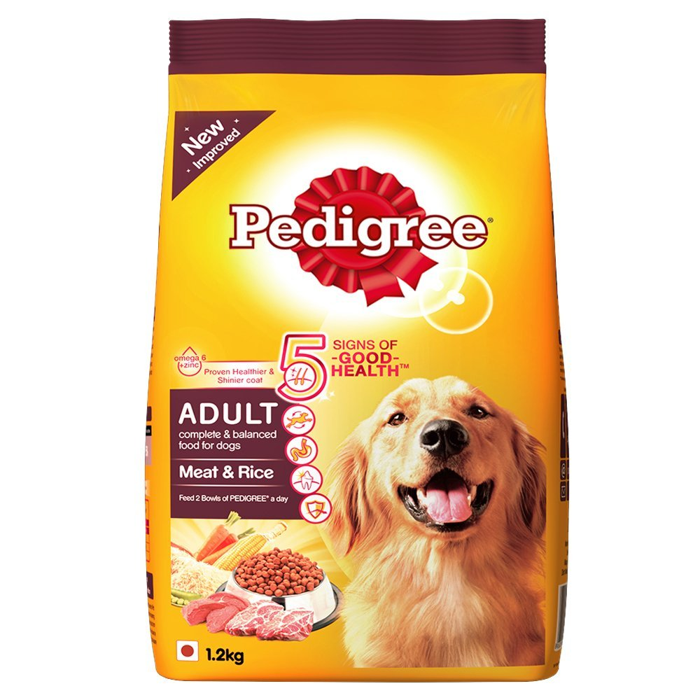 Pedigree Adult Meat & Rice-1.2 kg