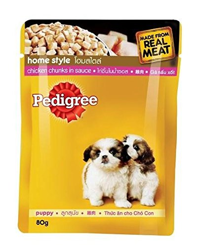 Pedigree Puppy Chicken and Rice in Gravy-80 gm