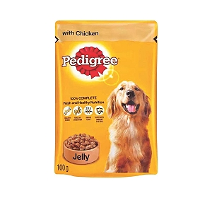 Pedigree Adult Chicken in Jelly- 100 gm
