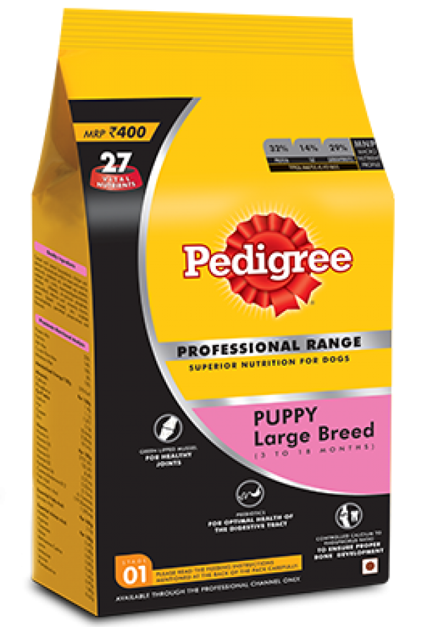Pedigree Puppy Large Breed Professional -1.2 Kg