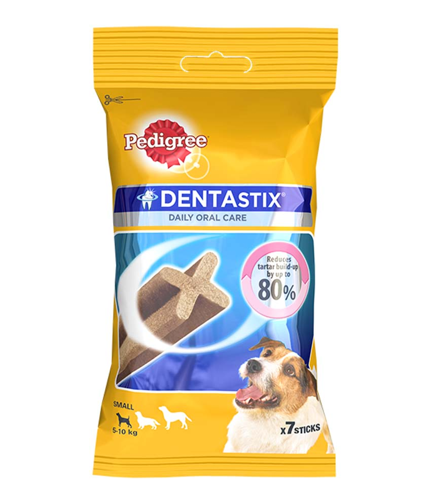 Pedigree Dentastix Small Breed Dog - 110 gm Weekly Pack (7 Sticks)