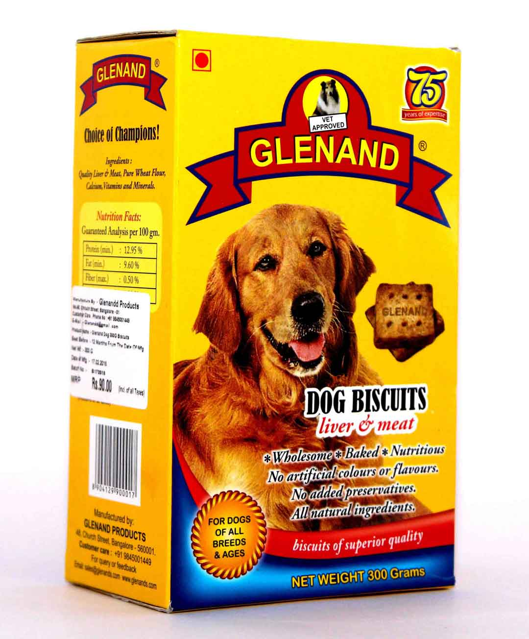 Glenand Dog biscuits Liver & Meat - 300 gm