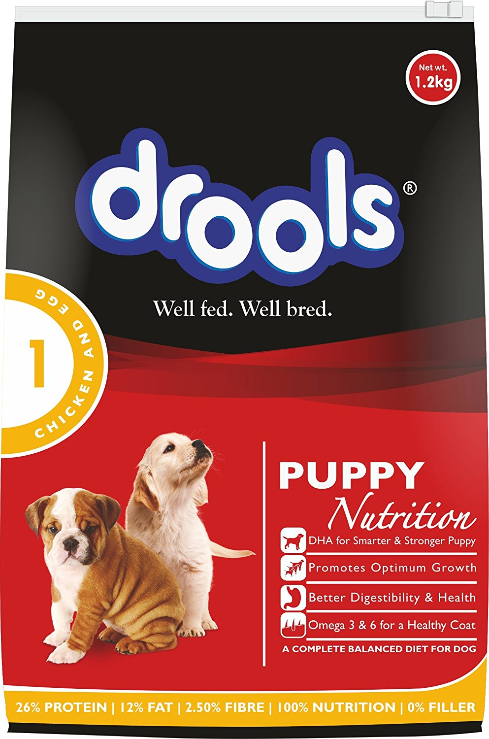 Drools Chicken and Egg Puppy - 1.2 kg