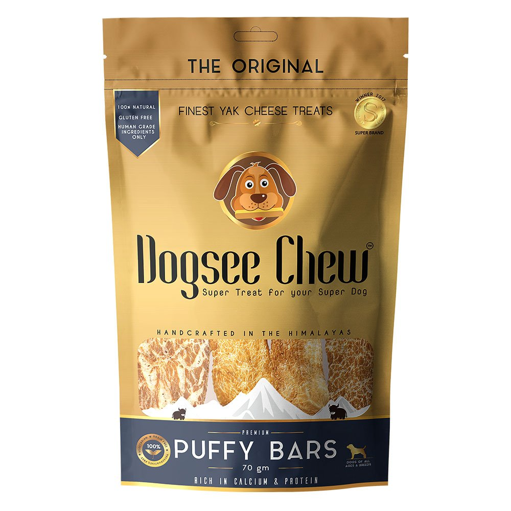 Dogsee Chew Puffy Bars Dog Treat - 70 gm