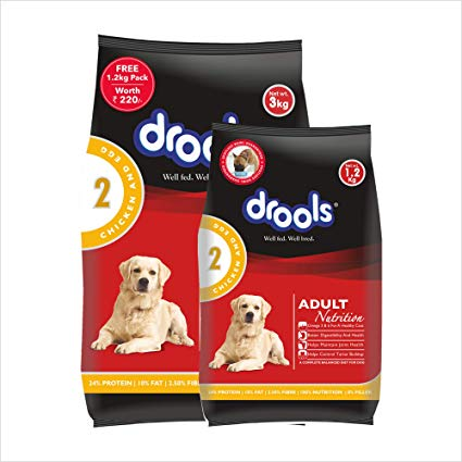 Drools Chicken and Egg Adult - 3 kg (+ 1.2 kg FREE)