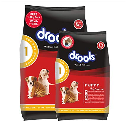 Drools Chicken and Egg Puppy - 3 Kg (+ 1.2 kg FREE)