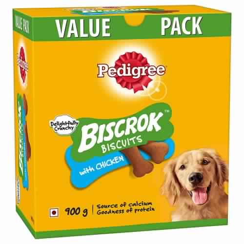Pedigree Biscrok Biscuits Chicken Flavor - 900 gm