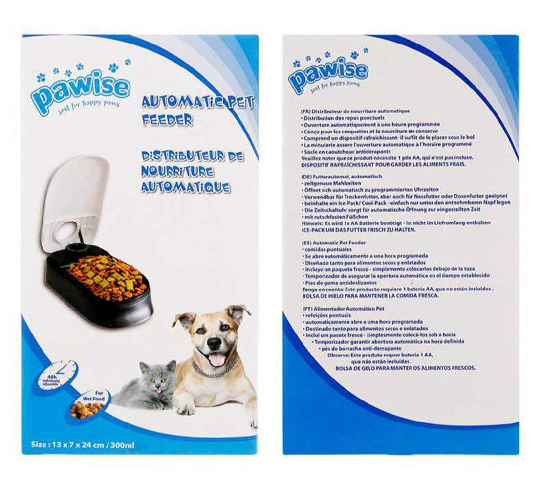 Pawise Automatic Pet Feeder for Dog & Cat (Size: 13X7X24 cm / 300ml)